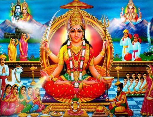 Santoshi-Mata-Ki-Aarti---Lyrics-In-Hindi