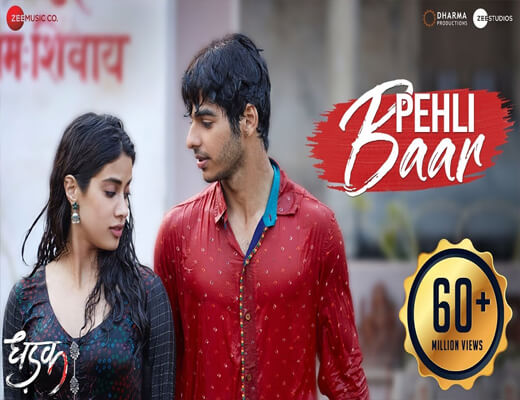 Pehli-Baar---DHADAK---Lyrics-In-Hindi