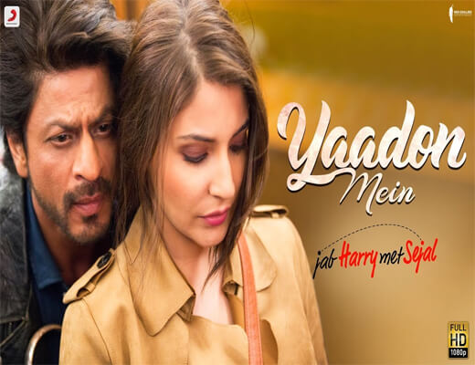 Yaadon-Mein---JHMS---Lyrics-In-Hindi