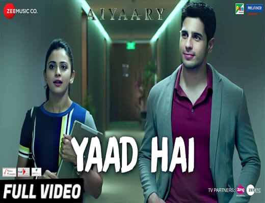 Yaad-Hai---Aiyaary---Lyrics-In-Hindi